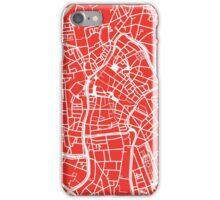 Ghent Map - Red iPhone Case/Skin
