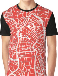 Ghent Map - Red Graphic T-Shirt