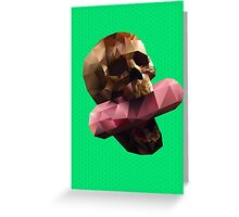 Poison Polygon Lime Greeting Card