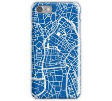 Ghent Map - Blue iPhone Case/Skin