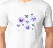 Pansy illustration Unisex T-Shirt
