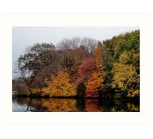 Autumn on the River Art Print