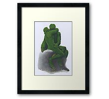 The Kiss Topiary 2012 Framed Print