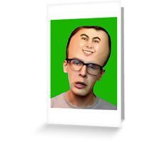 Idubbbz Leafy Forehead Greeting Card
