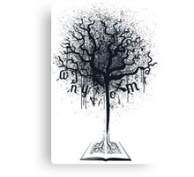 Book of Life Tree Canvas Print