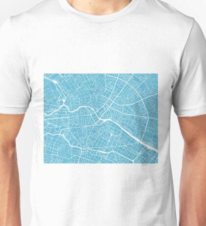 Berlin Map - Baby Blue Unisex T-Shirt