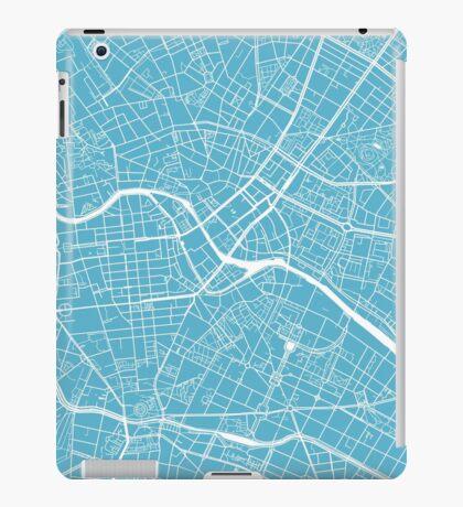 Berlin Map - Baby Blue iPad Case/Skin