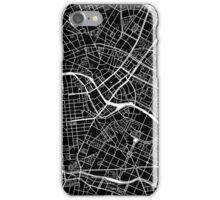 Berlin Map - Black iPhone Case/Skin