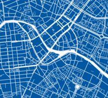 Berlin Map - Deep Blue Sticker