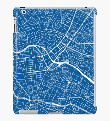 Berlin Map - Deep Blue iPad Case/Skin
