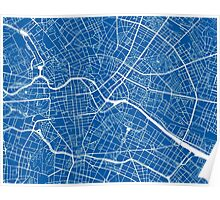 Berlin Map - Deep Blue Poster