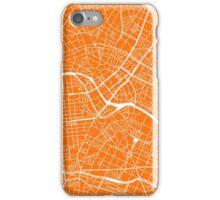 Berlin Map - Orange iPhone Case/Skin