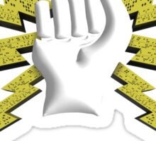3D - Fist Fist and Ticker Tape Sticker