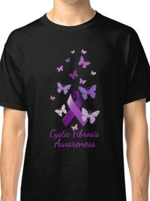 Purple Awareness Ribbon: Cystic Fibrosis  Classic T-Shirt
