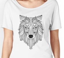 Wolf Illustration Women's Relaxed Fit T-Shirt