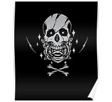 Rose Skull And Crossbones Graphic T-Shirt Poster