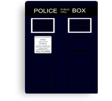 Time-traveling Police Call Box Canvas Print