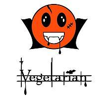 Vegetarian  Vampire Smiley VRS2 Photographic Print