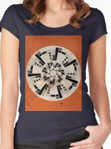 Abstract Location Women's Fitted Scoop T-Shirt