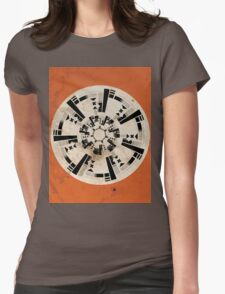 Abstract Location Womens Fitted T-Shirt