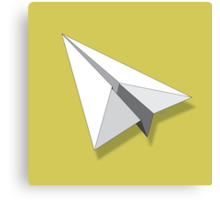Paper Airplane 5 Canvas Print