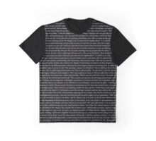 Pride and Prejudice Text Graphic T-Shirt