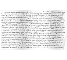 Pride and Prejudice Text Poster
