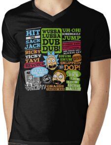 Wubba Lubba Dub dub !! Mens V-Neck T-Shirt
