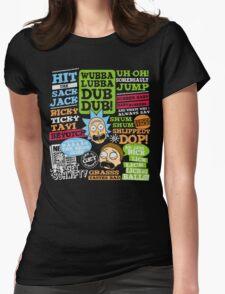 Wubba Lubba Dub dub !! Womens Fitted T-Shirt
