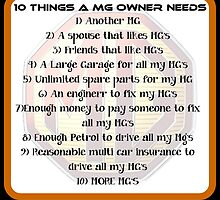 10 things MG by Sharon Poulton