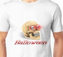 Skull with glowing eyes Unisex T-Shirt