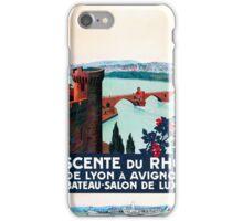 Descente du Rhône, French Travel Poster iPhone Case/Skin