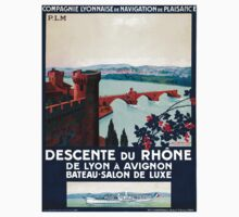 Descente du Rhône, French Travel Poster One Piece - Short Sleeve