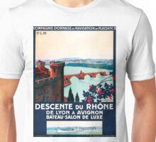 Descente du Rhône, French Travel Poster Unisex T-Shirt