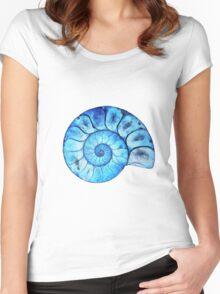Blue Ammonite Women's Fitted Scoop T-Shirt