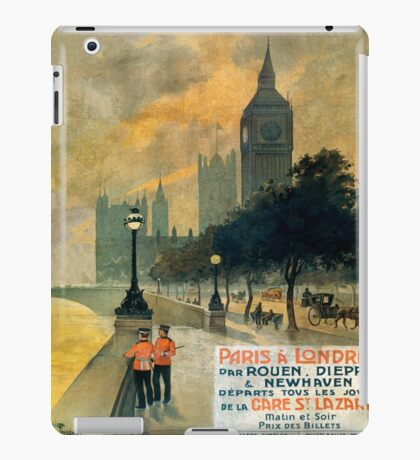 Paris a Londres, French Travel Poster iPad Case/Skin