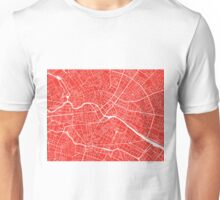 Berlin Map - Red Unisex T-Shirt