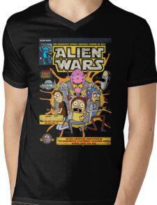 Alien Wars Mens V-Neck T-Shirt