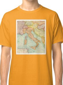 Vintage Italy map Classic T-Shirt