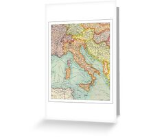 Vintage Italy map Greeting Card