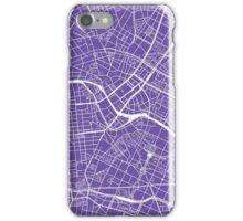 Berlin Map - Purple iPhone Case/Skin
