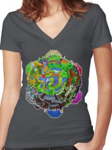 Dominion Of A Scrap Brain Women's Fitted V-Neck T-Shirt