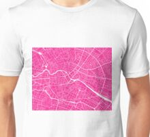 Berlin Map - Hot Pink Unisex T-Shirt