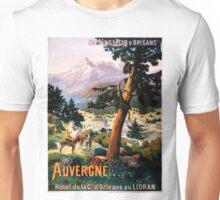 Auvergne, French Travel Poster Unisex T-Shirt