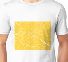 Berlin Map - Yellow Unisex T-Shirt