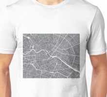 Berlin Map - Gray Unisex T-Shirt