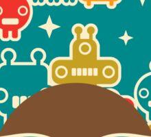 Robots on blue Sticker