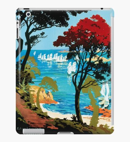 Côte D'Emeraude, French Travel Poster iPad Case/Skin