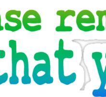 Inspirational Quote: Dear God... Sticker
