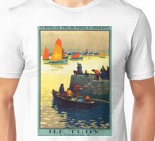 Ile Tudy-Finistere, French Travel Poster Unisex T-Shirt